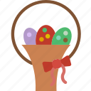 celebration, easter, eggs, festivity, gift, holiday, ribbon icon