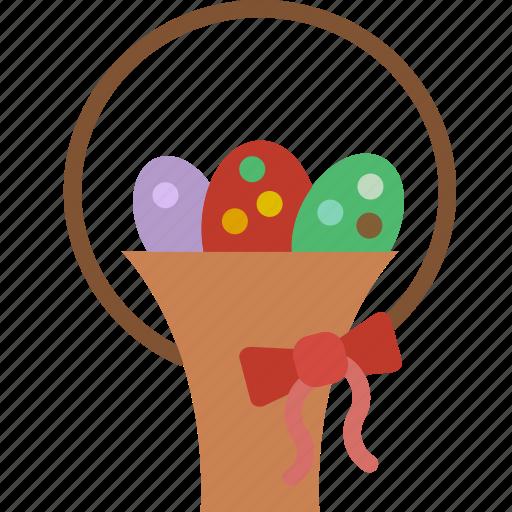 celebration, easter, eggs, festivity, gift, holiday, ribbon icon