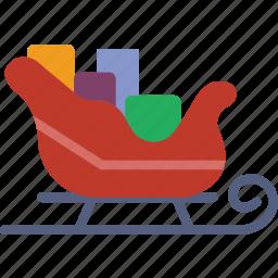 celebration, christmas, festivity, holiday, santas, sledge icon