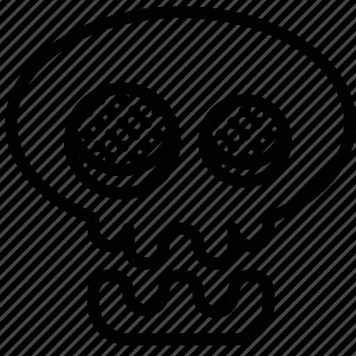 celebration, festivity, halloween, holiday, skeleton, skull icon