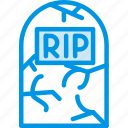 celebration, dead, festivity, grave, halloween, holiday, stone icon