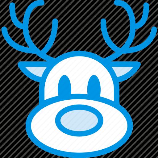 celebration, christmas, festivity, holiday, reindeer, sledge icon