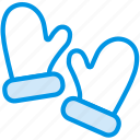 christmas, clothes, cold, festivity, glove, holiday, mittens icon