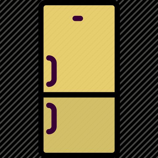 belongings, fridge, furniture, households icon