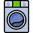 belongings, furniture, households, machine, washing icon