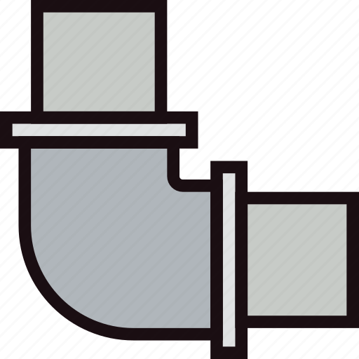 belongings, elbow, furniture, households, pipe icon