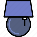 belongings, furniture, households, lamp icon
