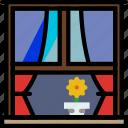 belongings, households, window, exterior, furniture