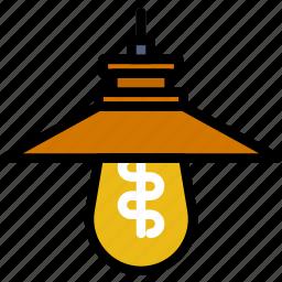 belongings, furniture, households, lamp, outdoor icon