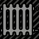 belongings, furniture, households, radiator icon