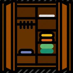 belongings, dressing, furniture, households icon