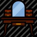 belongings, furniture, households, vanity