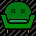 armchair, belongings, furniture, households icon