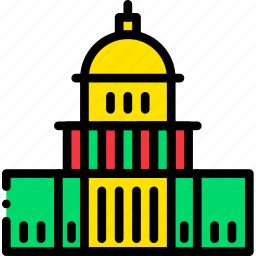 capitol, cartoony, states, united icon