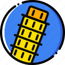 cartoony, pisa icon