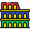 cartoony, colosseum icon