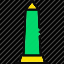 cartoony, obelisk icon