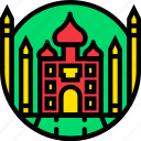 cartoony, mahal, taj icon