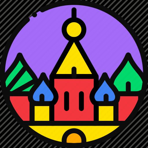 cartoony, kremlin icon