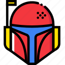 boba, cinema, fett, film, movie, video icon