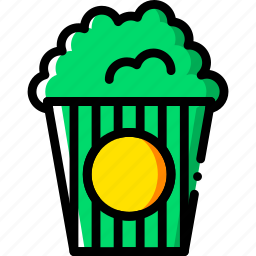 cinema, film, movie, popcorn, video icon