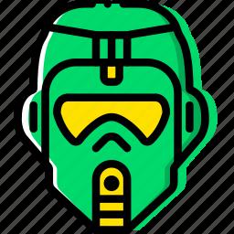 cinema, film, jungle, movie, trooper, video icon