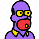 cinema, film, homer, movie, video icon