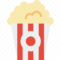 cinema, eat, film, food, movie, popcorn icon