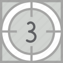 cinema, countdown, film, movie, timer icon