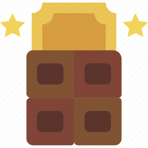 chocolate, cinema, factory, film, movie, ticket icon