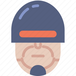 cinema, cop, film, justice, movie, robocop icon