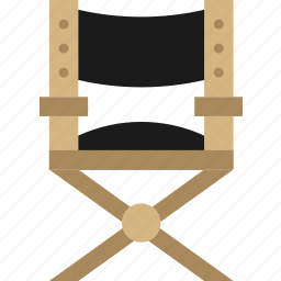 chair, cinema, director, film, movie, set icon