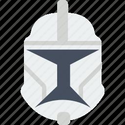cinema, clonetrooper, film, helmet, movie, star, wars icon