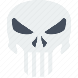 cinema, film, movie, punisher, revenge, skull icon