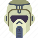 cinema, helmet, jungle, movie, star, trooper, wars icon