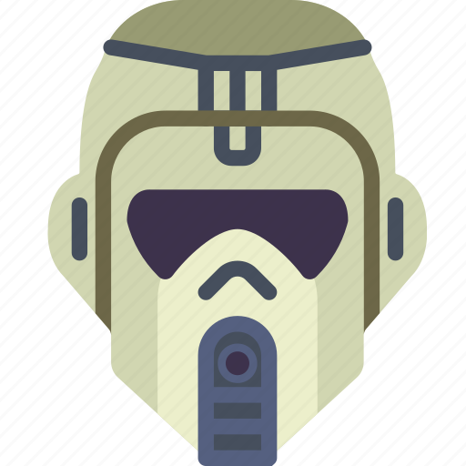 cinema, helmet, jungle, movie, star, trooper, wars icon