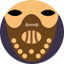 cinema, criminal, hanibal, lambs, movie, murdere, silence icon