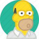 cinema, film, homer, movie, simpsons icon