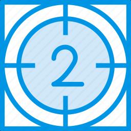 cinema, countdown, film, movie, timer icon