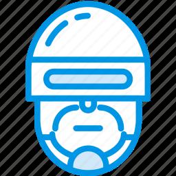 cinema, cop, film, movie, police, robocop icon