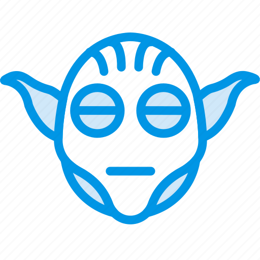 alien, cinema, film, movie, star, wars, yoda icon