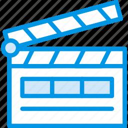 action, cinema, double, film, movie, take icon