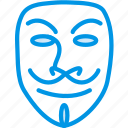 anonymous, cinema, film, mask, movie, vendetta icon