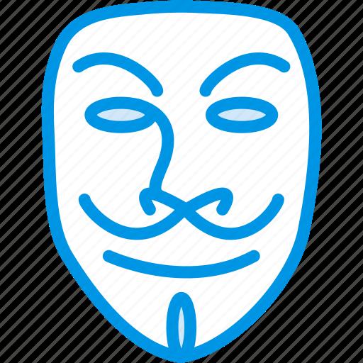 anonymous, cinema, film, mask, movie, vendetta icon