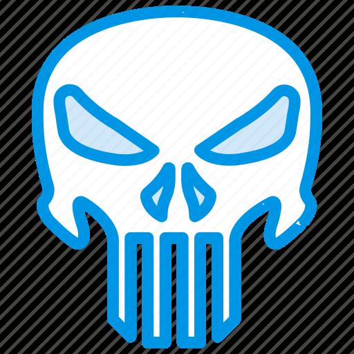 cinema, film, movie, punisher, revenge, skull icon