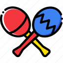 maracas, music, play, sound icon