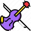 music, play, sound, violin icon