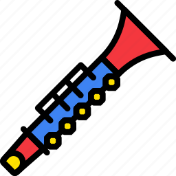clarinet, music, play, sound icon