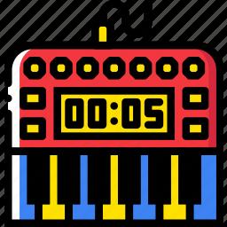 digital, music, piano, play, sound icon