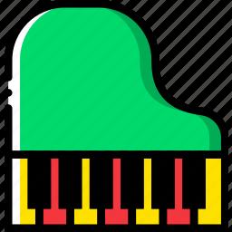 music, piano, play, sound icon